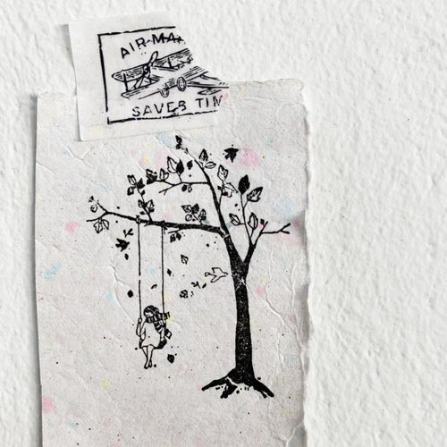 Black Milk Project Rubber Stamp - Swing