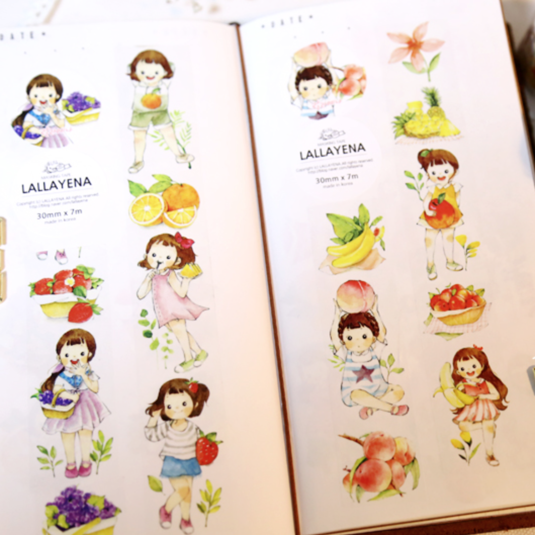 Lallayena Cute Girls Washi Tapes