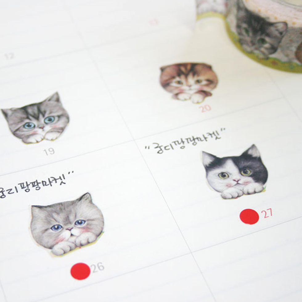 UncleCat Washi Tape - Cat Waiting In Orders