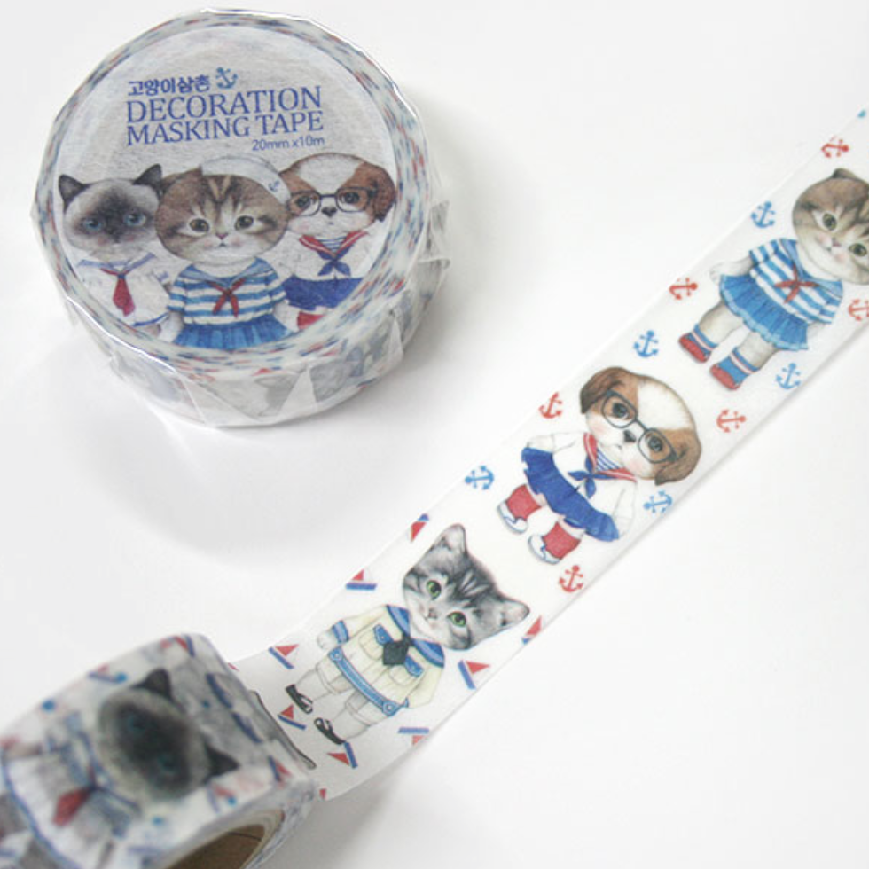 UncleCat Washi Tape - Sailor Cats