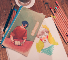 Writing Girl Pencil Case