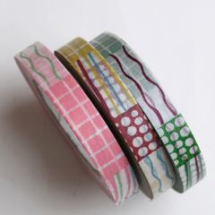 Classiky Textile Collage Washi Tapes (8mm) - Set of 3
