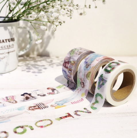 [Discontinued Item] Bon Bon Stickers Washi Tapes