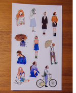 LDV Transparent Sticker Sheets Set (5pcs)
