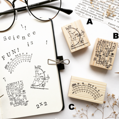 OHS Scientific Themed Rubber Stamp Collection