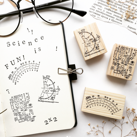 OHS Scientific Themed Rubber Stamps Collection