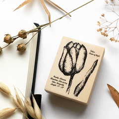 OHS Tulip Rubber Stamp