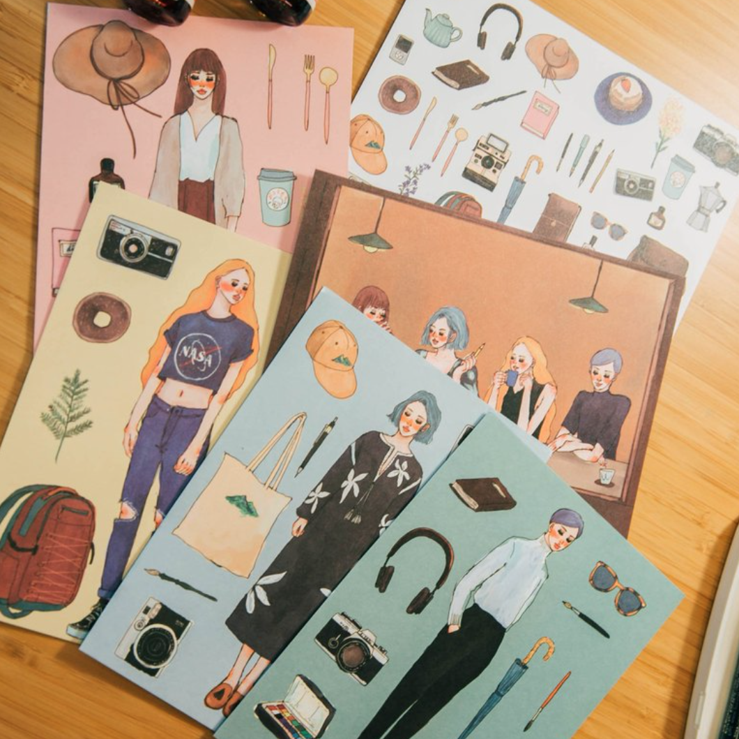 LDV Cafe Friends Series Postcards (6pcs)