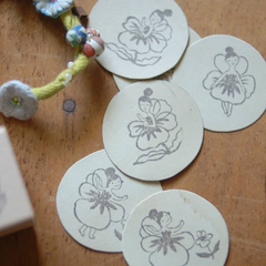 evakaku Rubber Stamps Set - Flower Fairy A