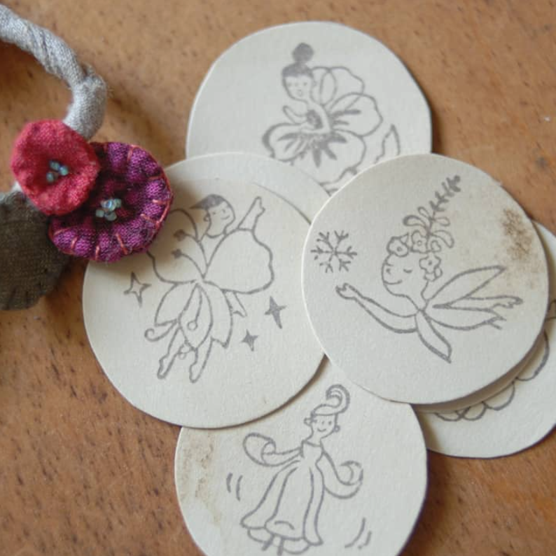 evakaku Rubber Stamps Set - Flower Fairy B
