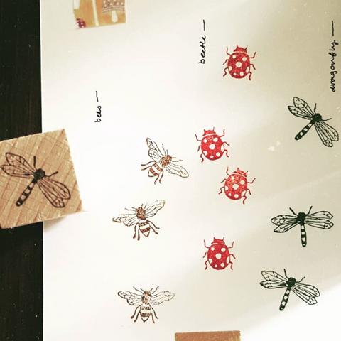 [Discontinued] Kurukynki Minibugs Rubber Stamps