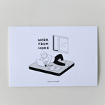 """Work From Home"" Postcard"