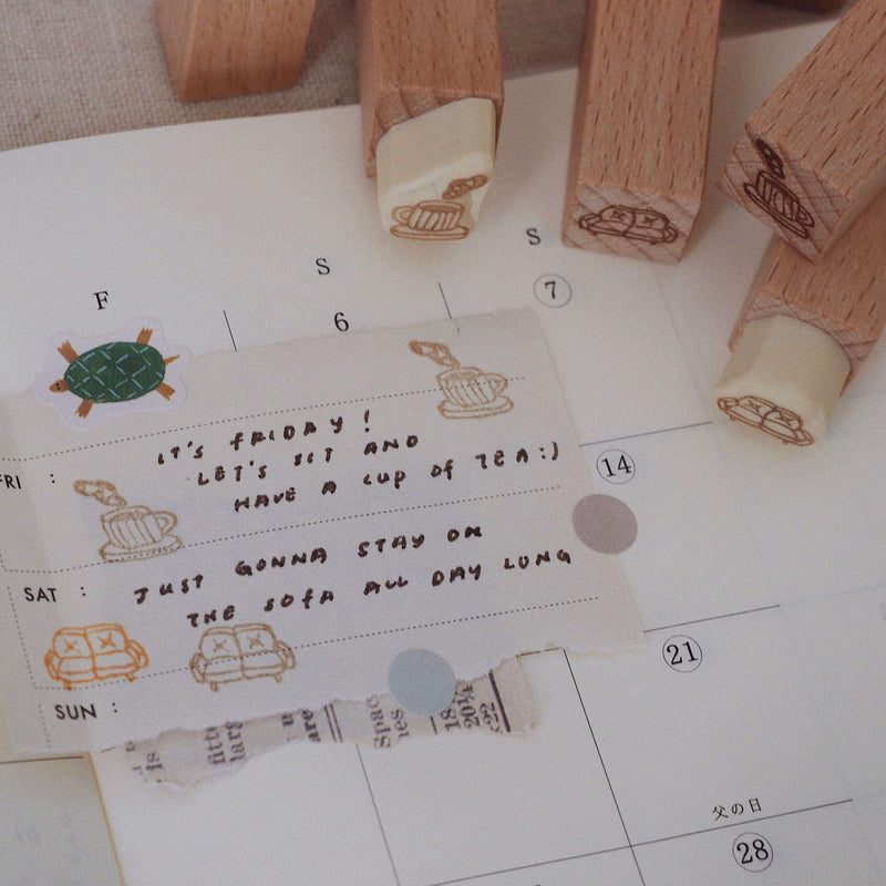 bighands handmade Rubber Stamp Set - Daily