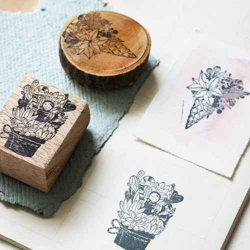 Black Milk Project Rubber Stamps - Flower Cone