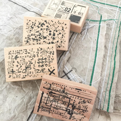 [Discontinued] amnesiac Original Rubber Stamp Set - Items of Receipts