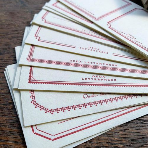 Oeda Letterpress Sticker Set - Red & Blue