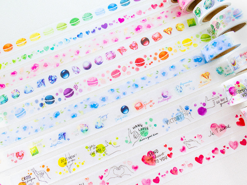 Birthstones Washi Tapes