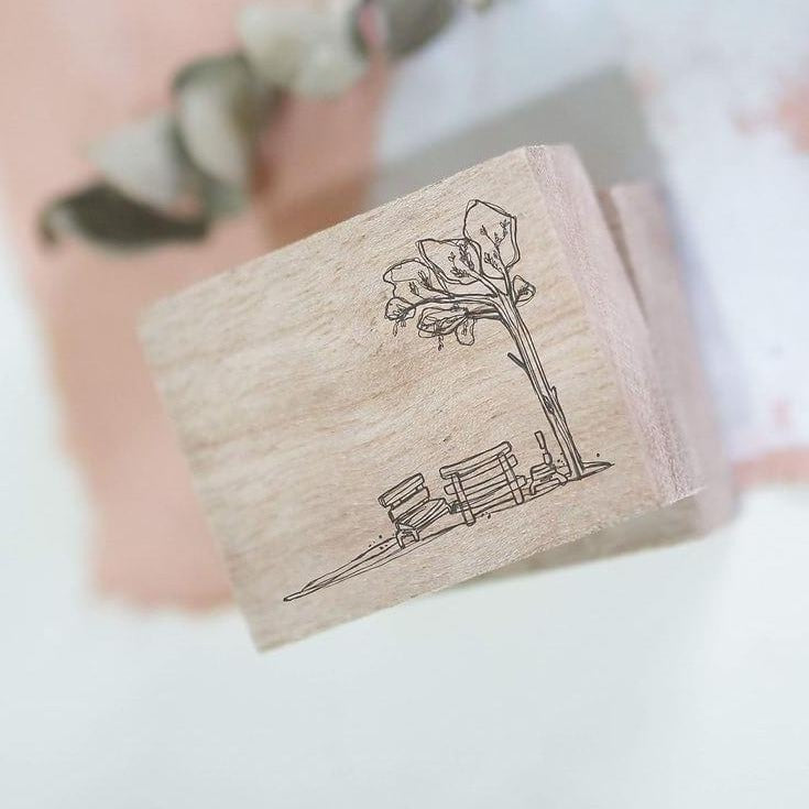 Black Milk Project Rubber Stamp - Bench