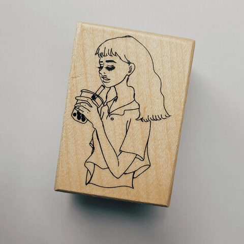 LDV Rubber Stamp: Bubble Milk Tea Girl