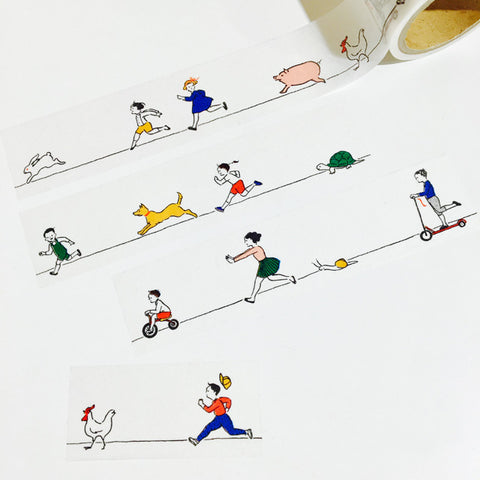 Goat x Masco Perforated Washi Tape - Racing