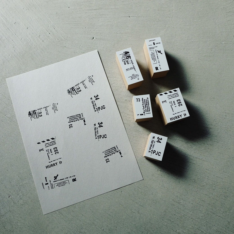 YOHAKU Original Rubber Stamp - Retro