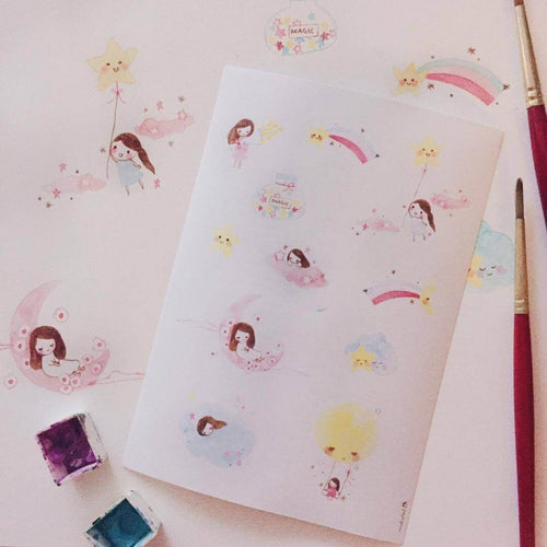 msbulat Sticker Sheet - Celestial