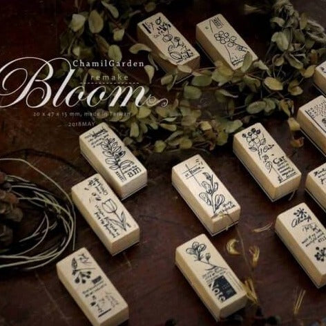 Chamil Garden Rubber Stamp Collection Vol.1- Bloom