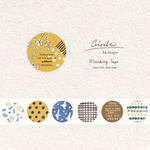 Pion: Circle Die-cut Washi Sticker Roll