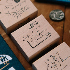 OURS Rubber Stamp Set: Daily Cursive Set B