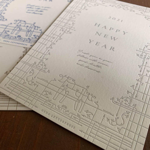 Oeda Letterpress New Year Postcard