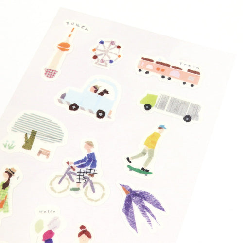 [My Favorite] Washi Sticker - Down Town