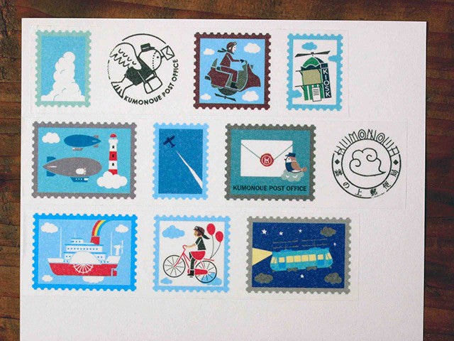 Kyupodo Washi Tape - Post Office on the Cloud (Flying Machine)