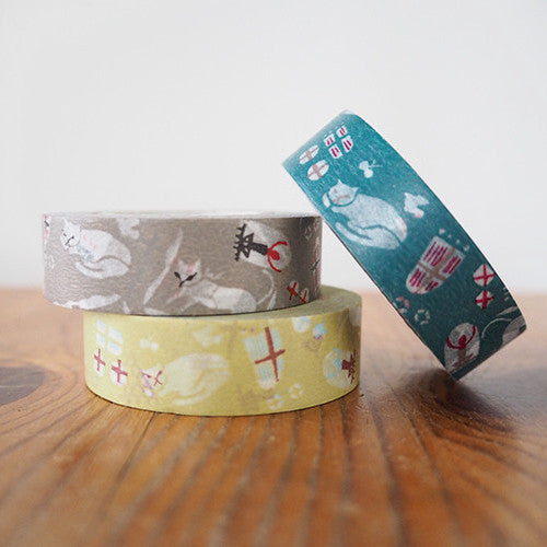 Classiky Cats Washi Tapes (15mm) - Set of 3