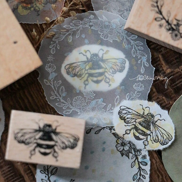 LCN Rubber Stamp Set - Floral Buzz