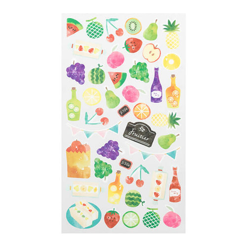 MD Washi Sticker Marché - Fruit