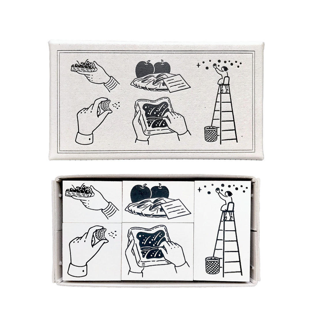 RakuiHana Fruit Basket Rubber Stamps