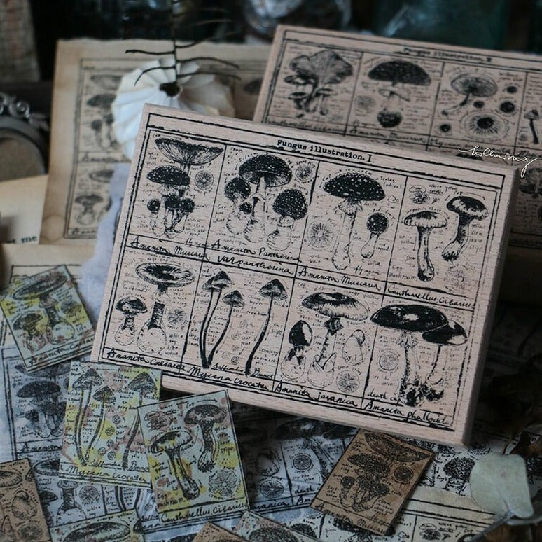 LCN Rubber Stamp Set - Fungus Notecard I