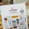 Suatelier Stickers - City Collection (China/ Moscow/ New York/ Paris/ London/ frankfurt am main/ Tokyo)