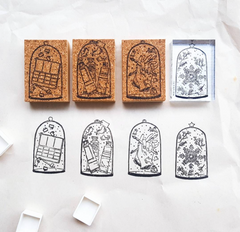 Kurukynki Painted Glasses Rubber Stamps