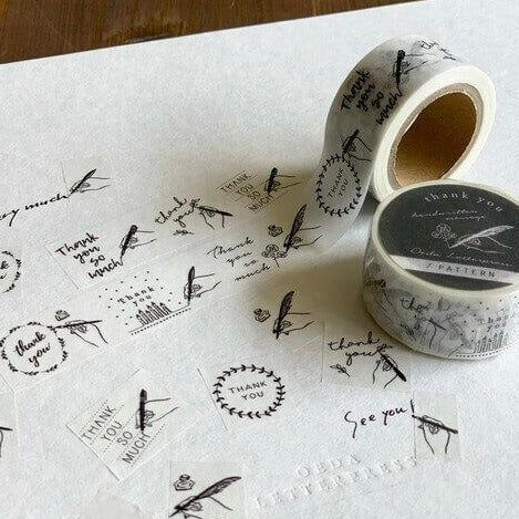 Oeda Letterpress Washi Tape - Handwritten Thank You