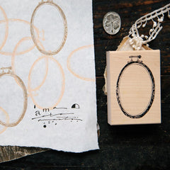 OURS Embroidery Hoop Rubber Stamp