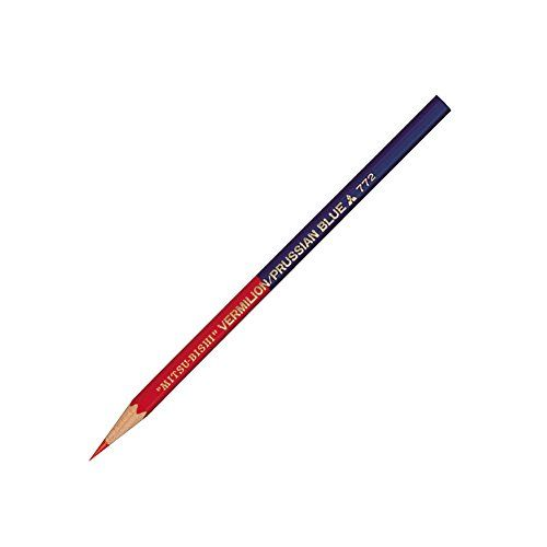 Mitsubishi Vermilion and Prussian Blue Pencil - 5:5