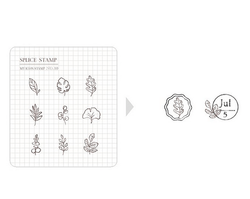 MU My Icon Stamp Set - No. 10 (Mini Leaves)