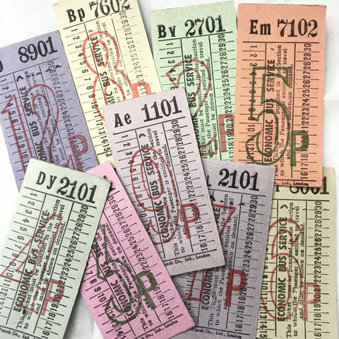 London Economic Bus Service Vintage Ticket Set
