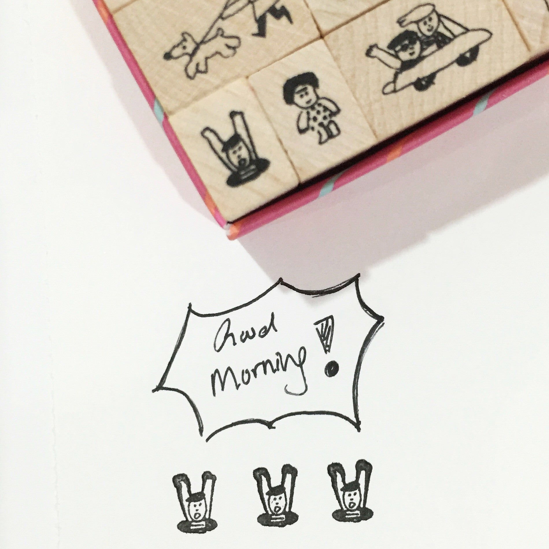 AIUEO Miniature Human Stamps Set