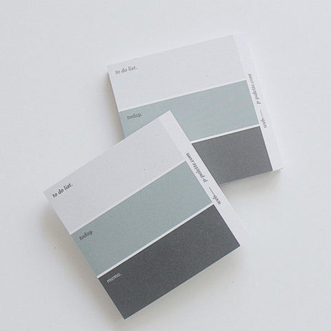 Colour Palette Memo Pad - Black