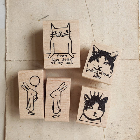 CatslifePress Rubber Stamp - Animal Series