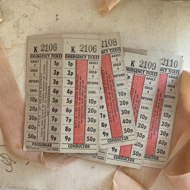 Vintage Emergency Exchange Tickets (5pcs)