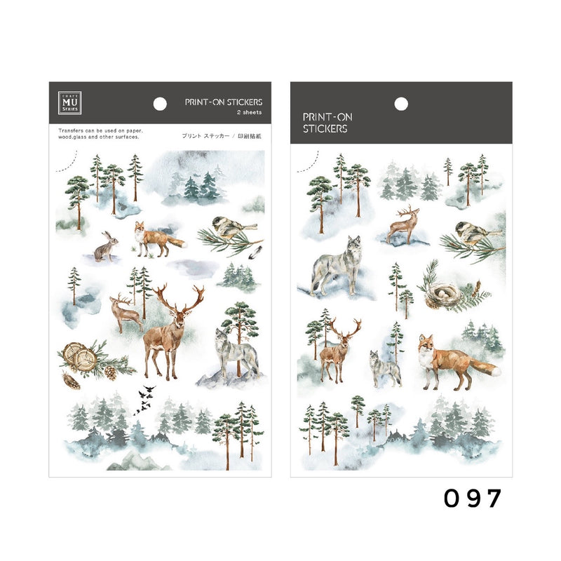 MU Print-On Sticker - Winter Limited Edition Series