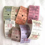 Vintage Transport Service Bus Tickets (16pcs)